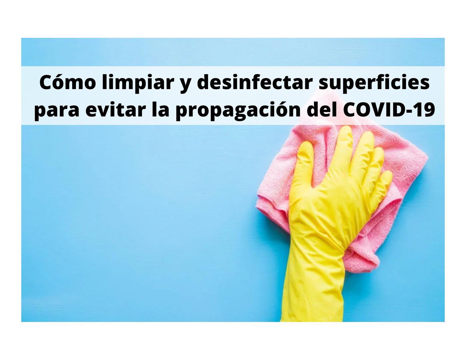 Instrucciones para la limpieza de la vivienda de los casos  de COVID-19